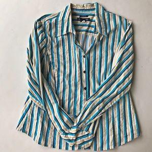 Evan Picone Ladies Stretch Striped Shirt Vintage